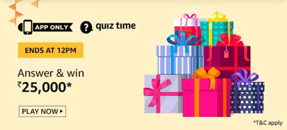 Amazon Karigar Quiz Tricks to get correct Amazon Karigar Quiz Answers! Win Prizes worth Rs 25000 now! 1