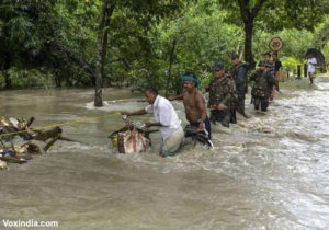 Assam and Bihar floods causing major causes to the people, amid covid pandemic 3