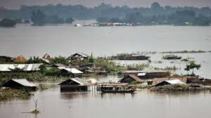 Assam and Bihar floods causing major causes to the people, amid covid pandemic 1