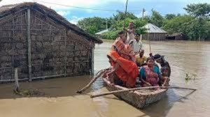 assam and bihar flood images voixindia